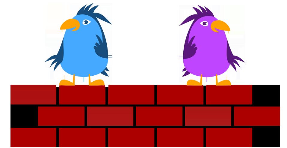 two little dickie birds